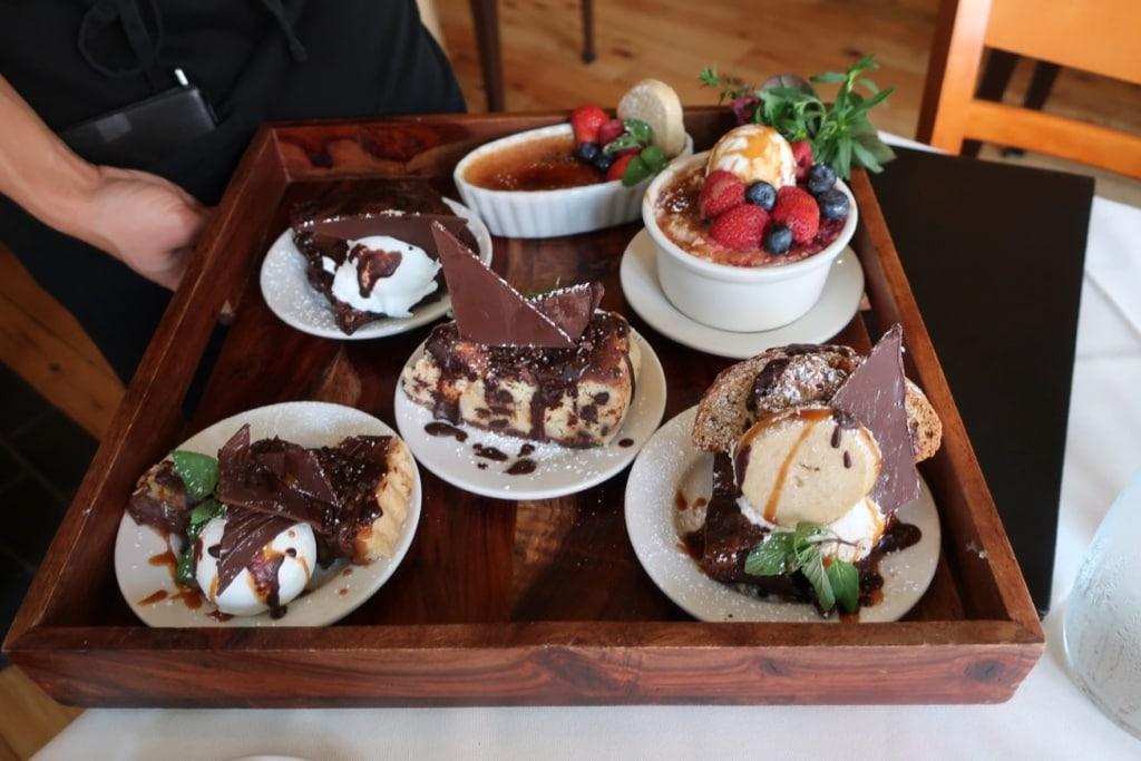 Dessert Tray Elizabeths Restaurant Lewisburg PA