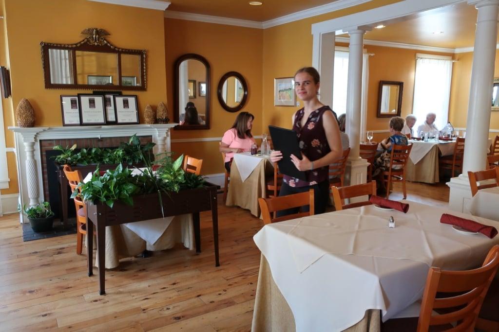 Cheerful yellow dining room Elizabeths Lewisburg PA