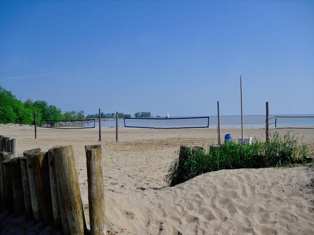 Lake Erie beach on Route 6 Ohio