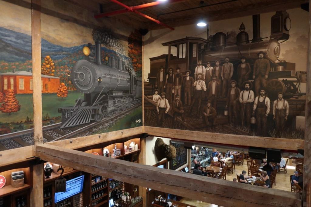 Artist McGreevy murals on walls of Rusty Rail Brewing PA