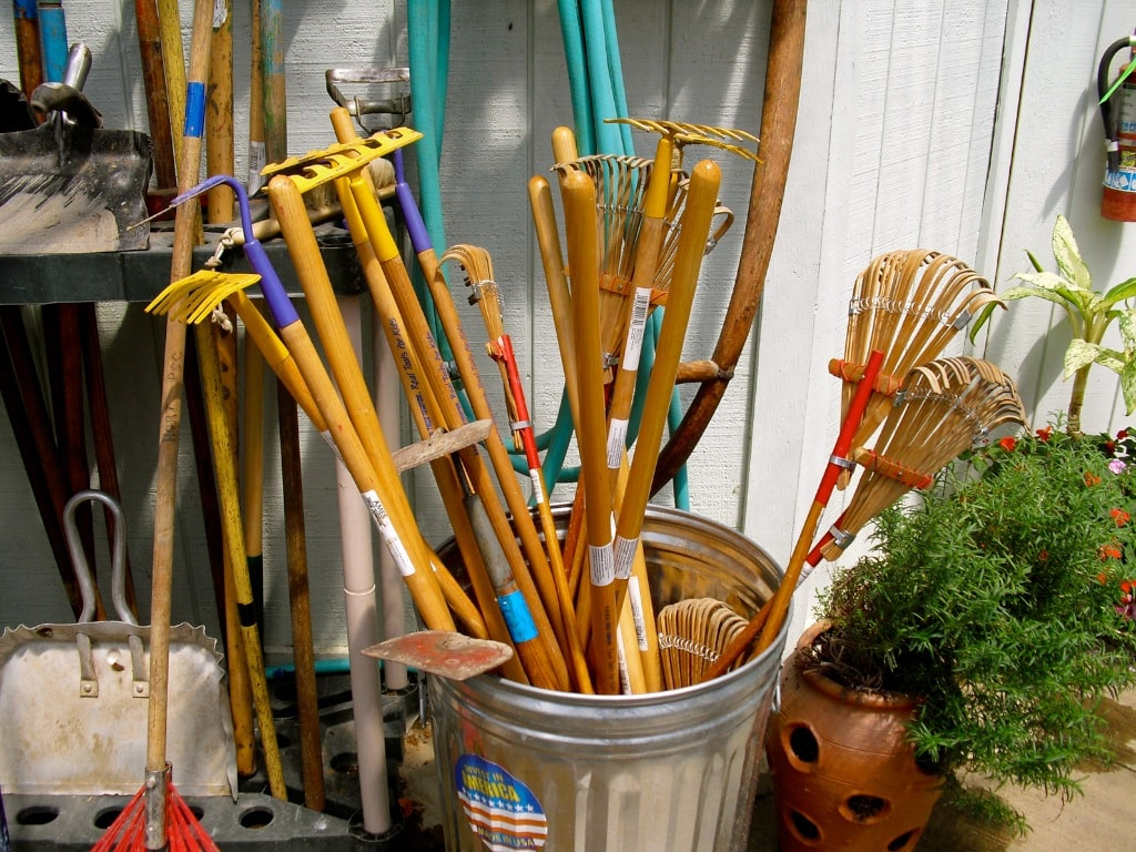Collection of gardening equipment Metroparks Farmpark Kirtland OH