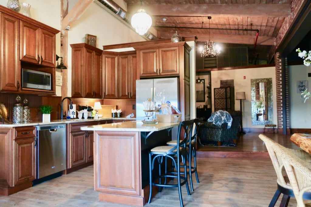 Diamond Suite kitchen Rusty Rail Brewing Suites Central PA