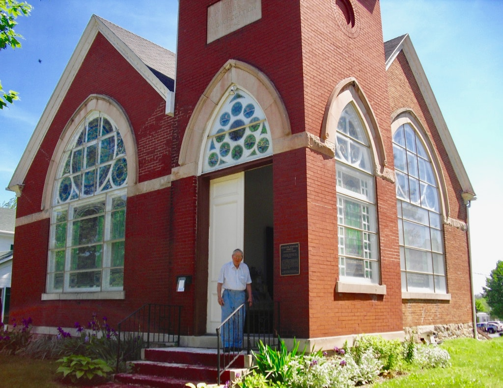 Ahavath Shalom Temple now a private home in Ligonier IN
