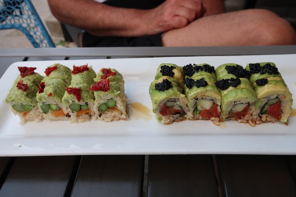 Sushi rolls at Blue Sushi Sake Grill Old Market Omaha