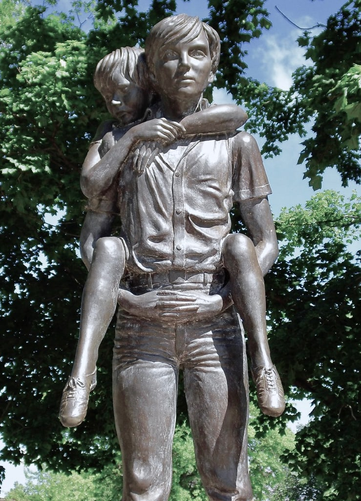You're Not Heavy You're My Brother Boys Town NE Statue