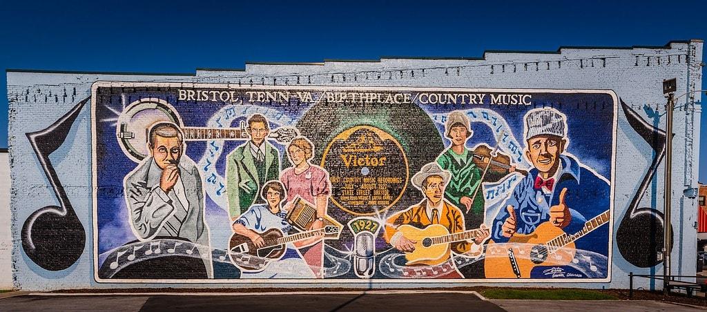 Bristol VA Mural celebrates Birthplace of Country Music