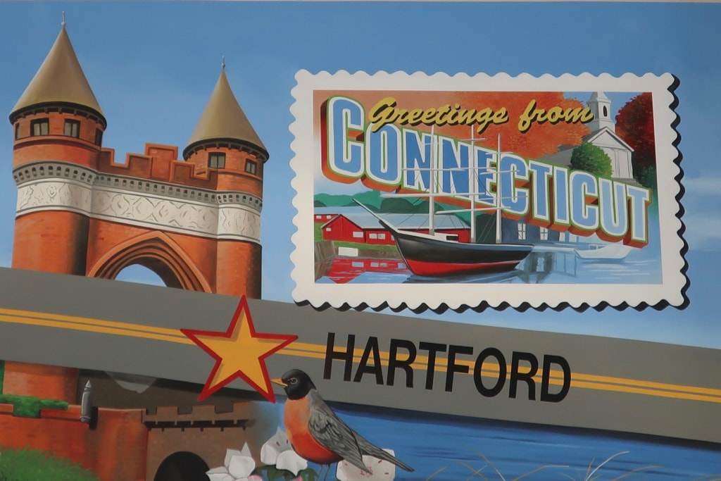 CT Route 6 Mural Shoemakers Truck Stop NE