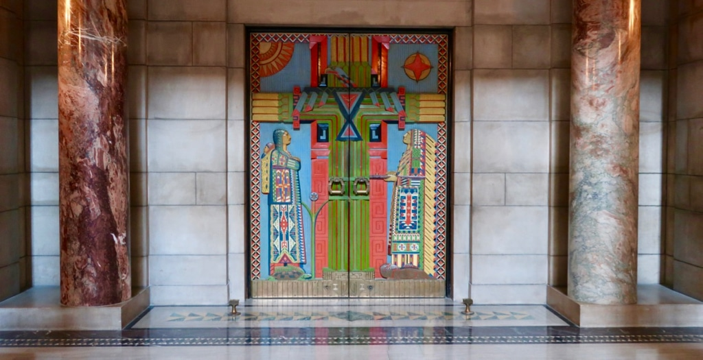 Chamber door Nebraska Capitol Building Lincoln NE