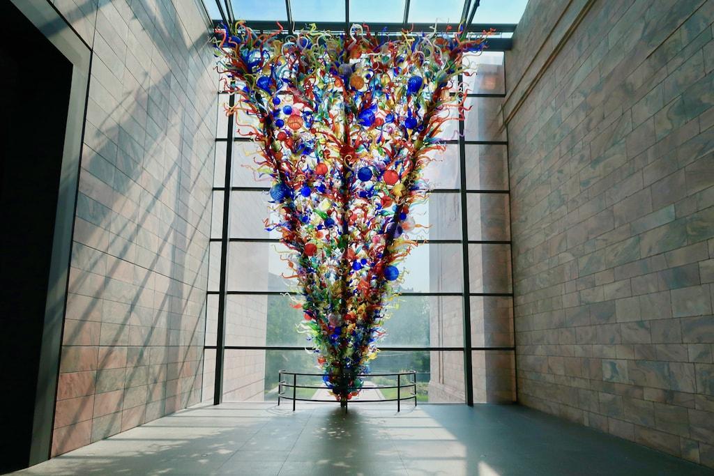 Chihuly installation Joslyn Museum Omaha NE