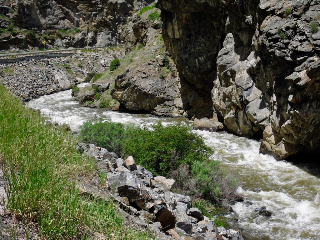 Clear Creek Canyon drive Golden to Idaho Springs CO