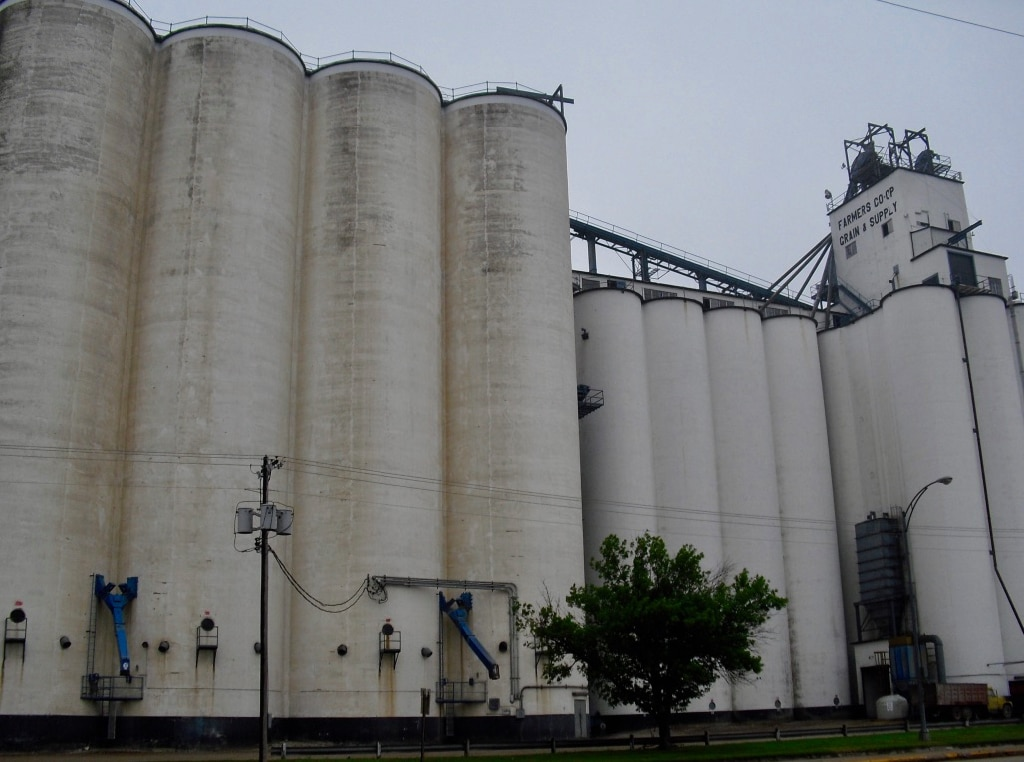 Grain elevators ubiquitous on US Route 6 Nebraska