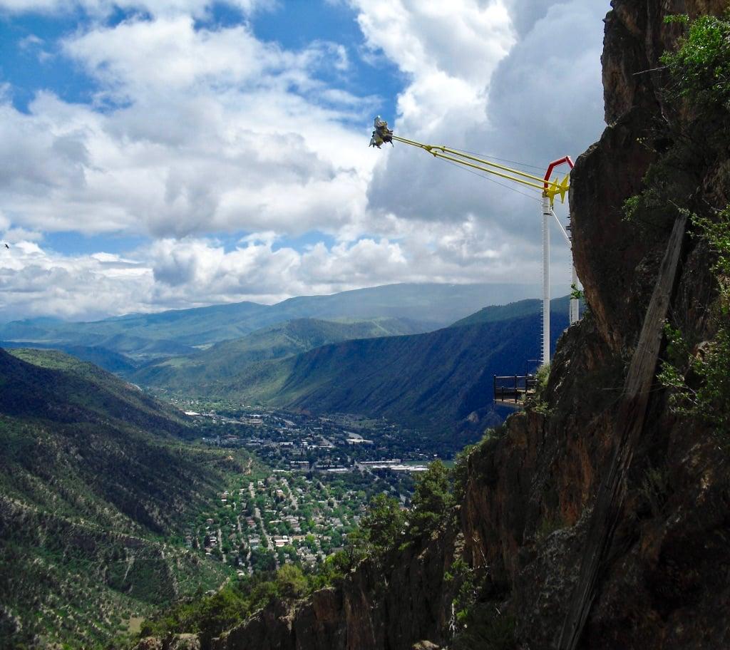 Giant Canyon Swing over Glenwood Canyon Adventure Park