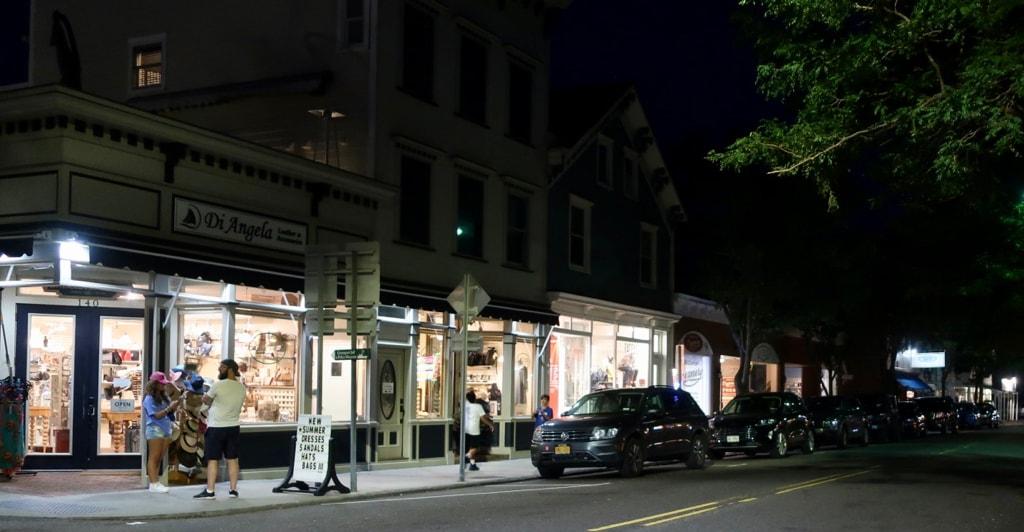 Greenport NY at night