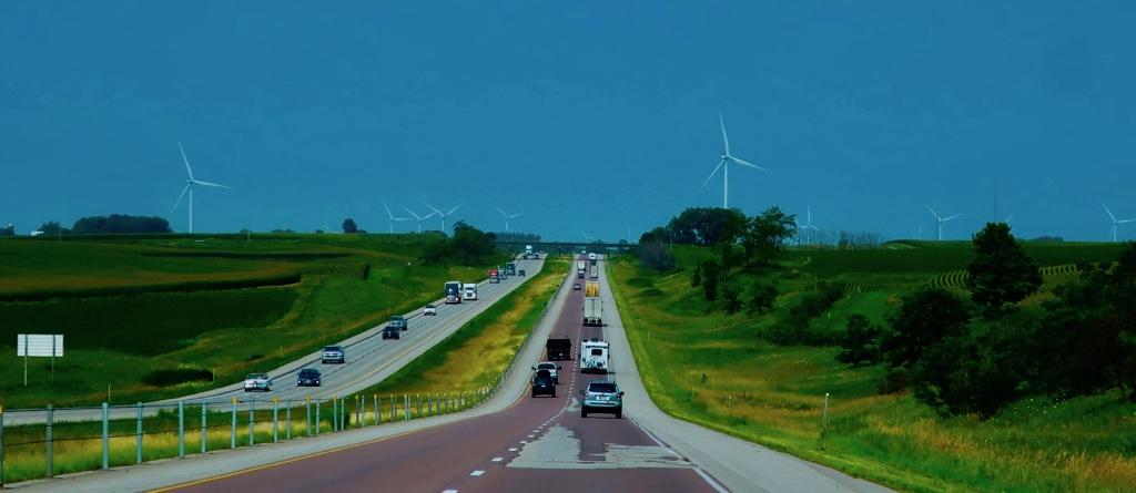 US Route 6 Iowa Wind Turbines