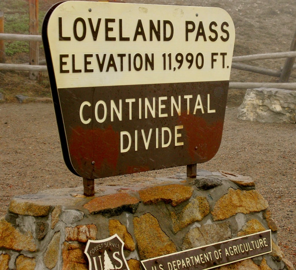 Loveland Pass Continental Divide Highest US Route 6 Elevation