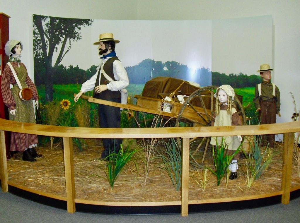 Mormon Handcart Diorama Coralville IA
