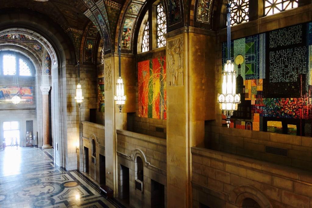 Mosaic interior of Nebraska Capitol building