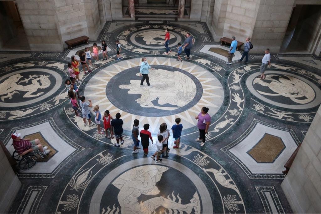 Marble Mosaic Floor Nebraska State Capitol Lincoln NE