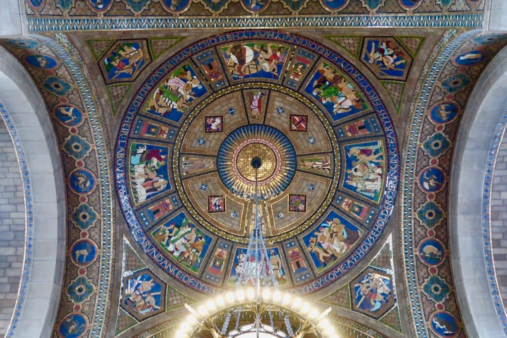 Dome mosaics Nebraska State Capitol Lincoln NE