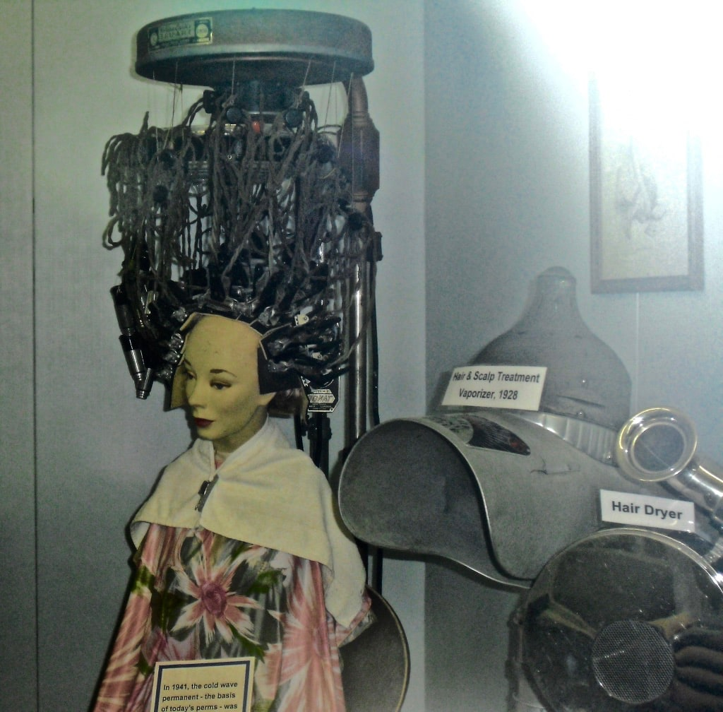 Scary hair treatment from mid-1900s at Pioneer Village Minden NE