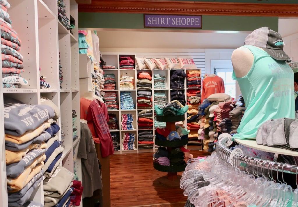 North Fork and Love Lane t-shirts at the Sweet Shop Mattituck NY