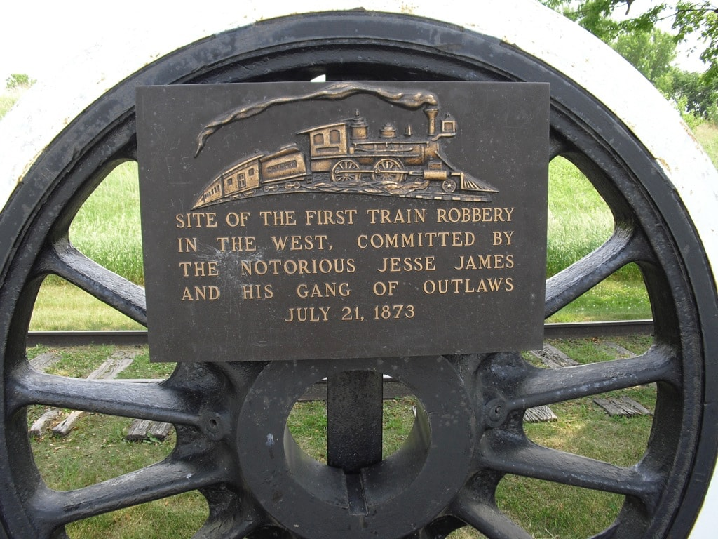 Outlaw Jesse James Robbed a train on this spot in Iowa