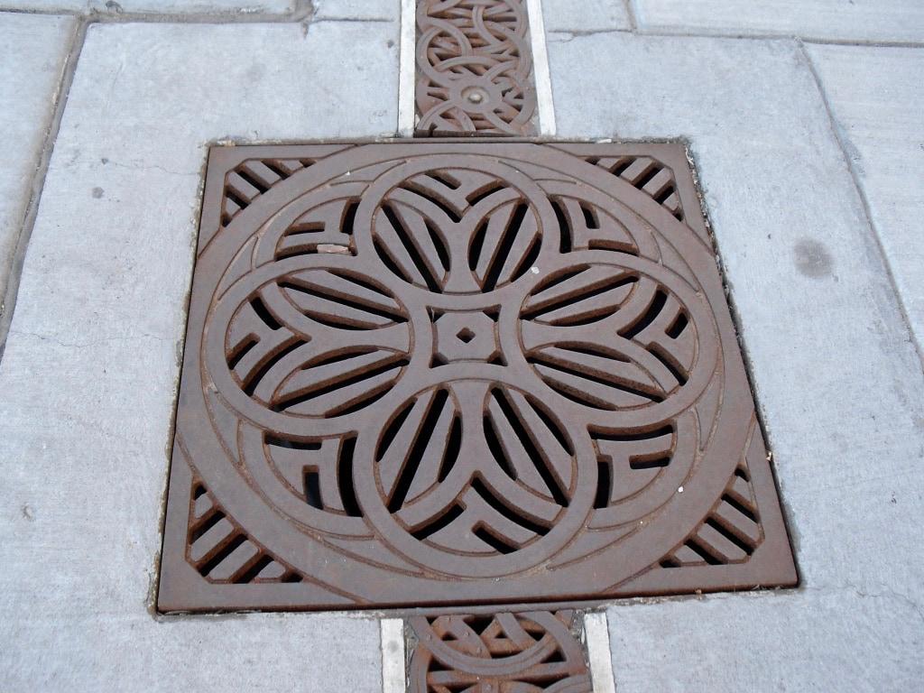 Sidewalk grate downtown Grand Junction CO