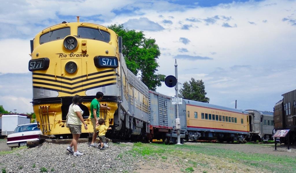 Outdoor train exhibit Colorado Railroad Museum
