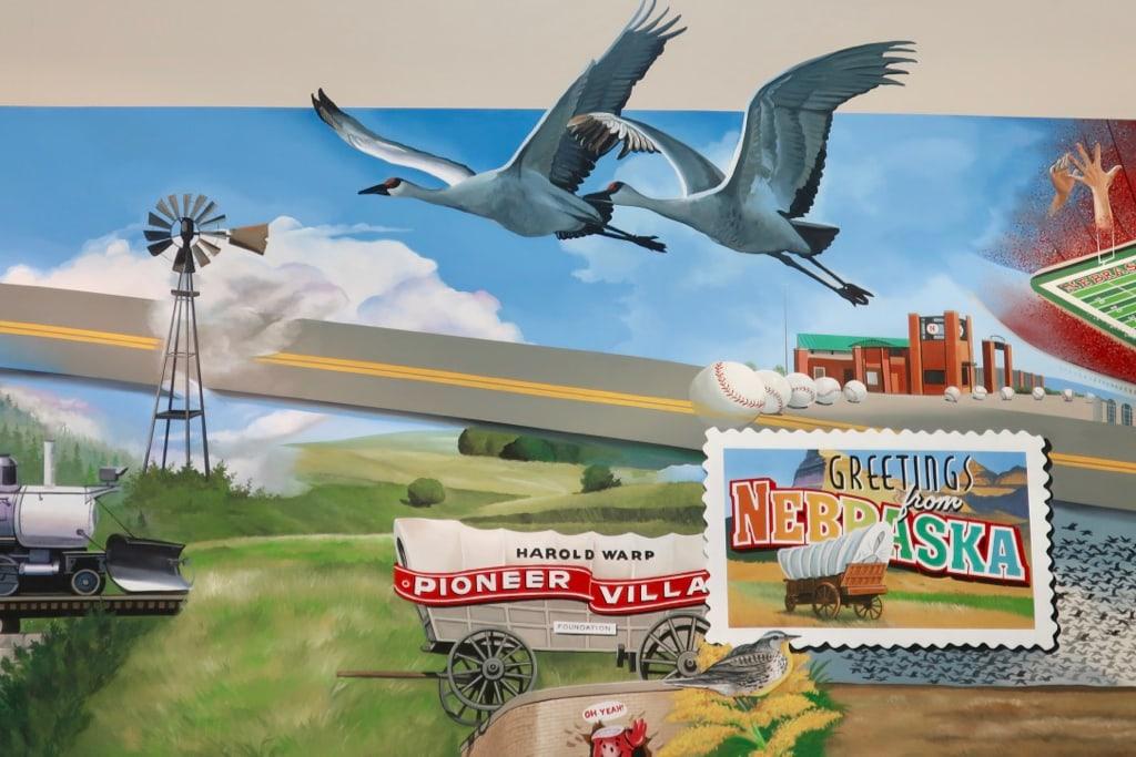 Nebraska Route 6 Mural Shoemakers Truck Stop Lincoln NE