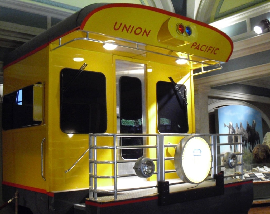 Rear of Union Pacific Train car Council Bluffs IA
