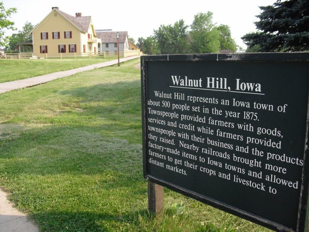 Walnut Hill section of Living History Farms Urbandale IA
