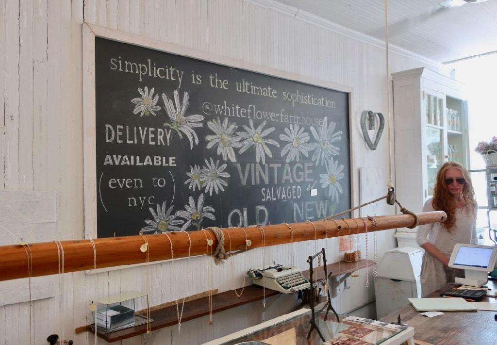 White Flower Farmhouse home goods shop Southold NY
