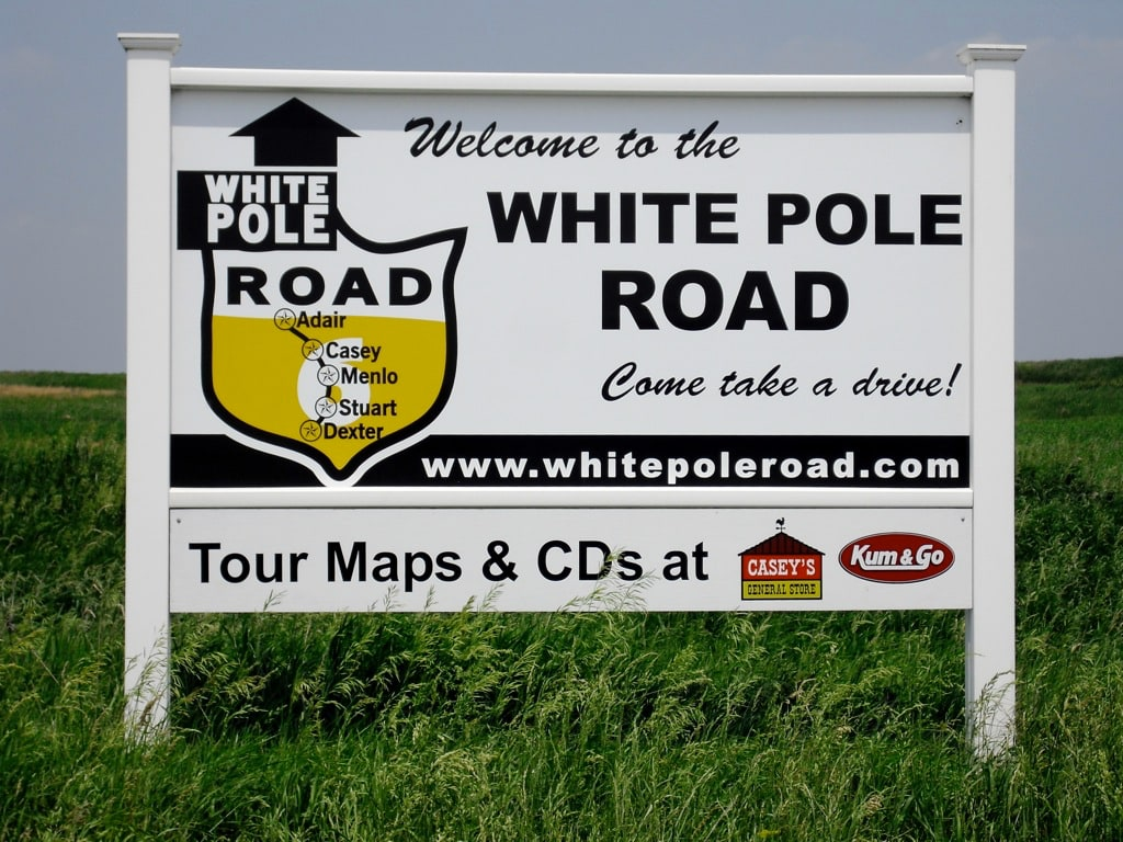 White Pole Road runs 26 miles parallel to I-80 Iowa