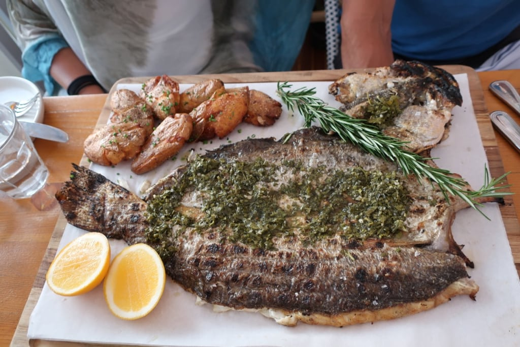 Grilled whole weakfish Anker Restaurant Greenport NY