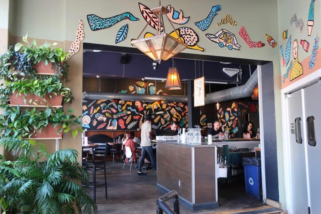 City O City Vegan restaurant colorful interior