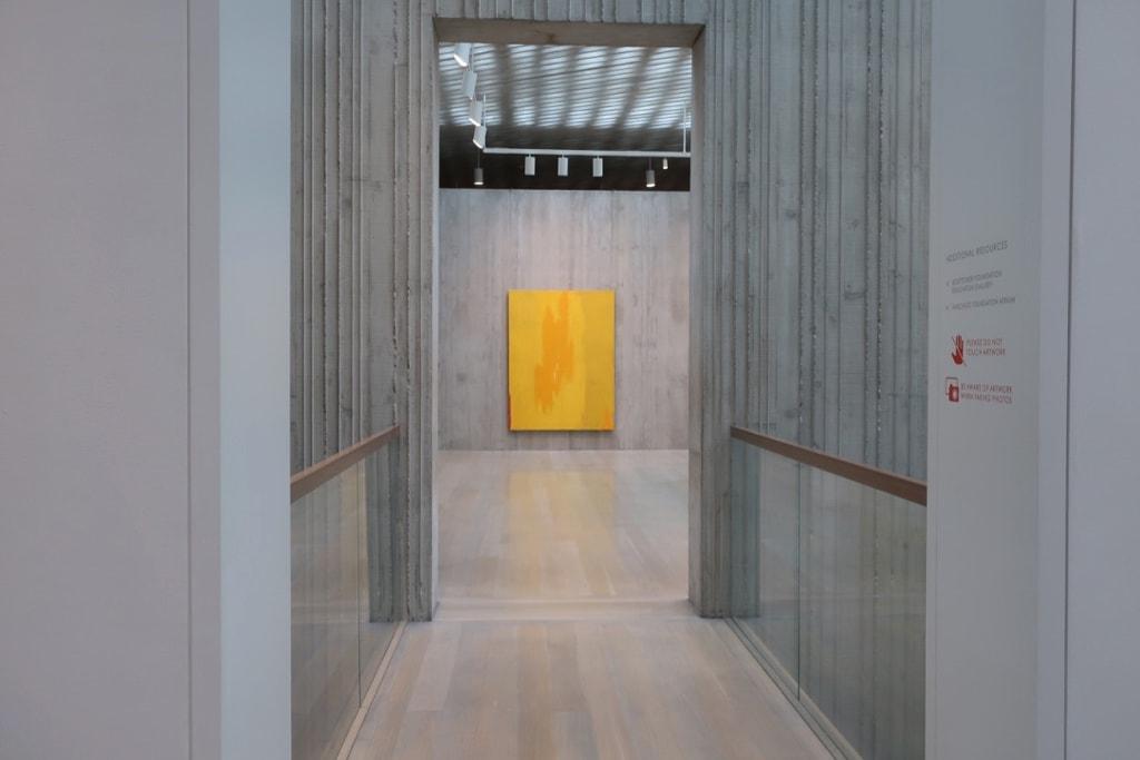 Sunshine Yellow abstract art at Clyfford Still Museum Denver CO