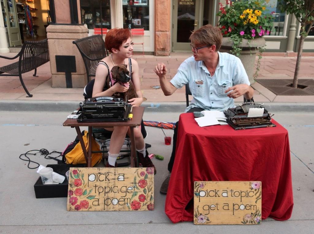 Romantic Poetry on the spot Larimer Square Denver