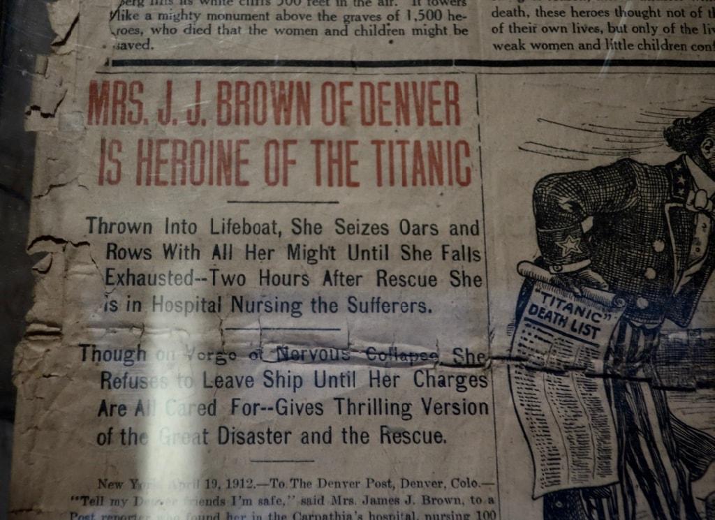 Exaggerated account of Margarett Brown heroism on Titanic