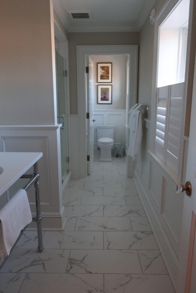 Marble bathroom Inn at Ocean Ave New London CT