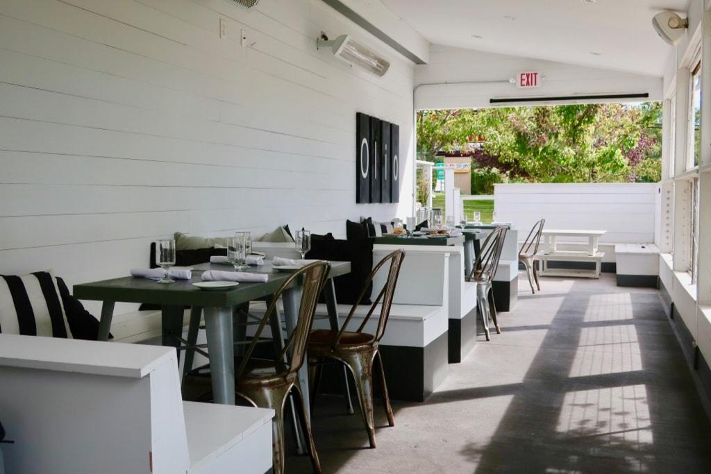 Olio Restaurant outdoor covered patio Groton CT