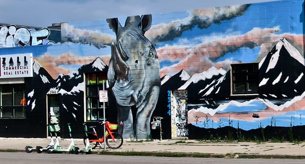 RINO mural in River North Brewery District Denver
