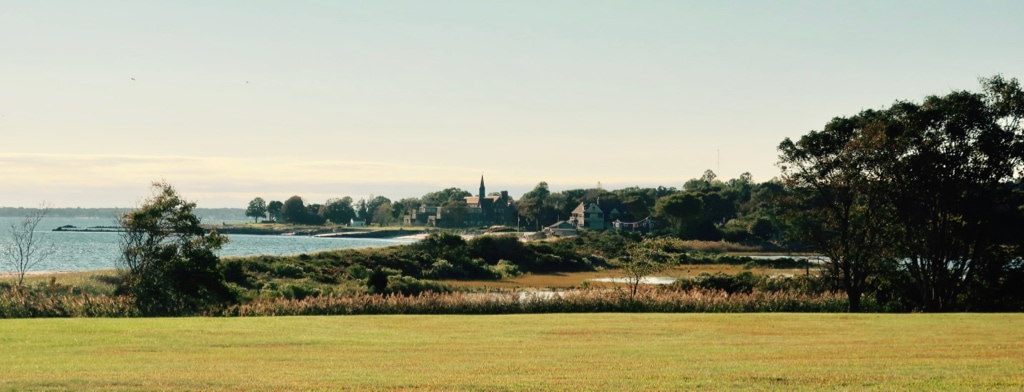 View of coastal Waterford CT from Harkness State Park